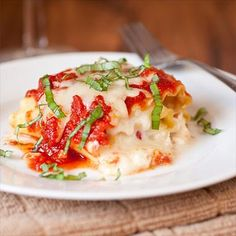 Caprese Lasagna Roll Ups by Thermador: Simple and delicious! #Lasagna #Caprese