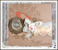 Thankful for your Hospitality by Tammy Hobbs @ Creating Somewhere Under The Sun: The Kraft Journal #186 - #Punches, #shabby, #thekraftoutlet, #thekraftjournal,