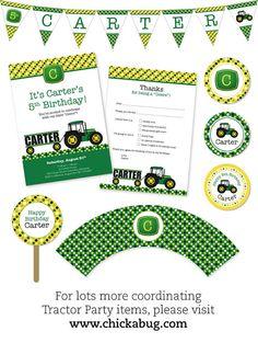 Cute John Deere party printables!