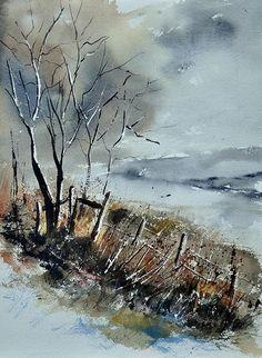 landscap art, artist ledent, ledent pol, tree landscap, trees