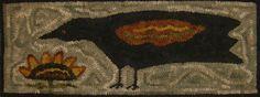 rug ispir, rug hook, nice background, hook rug, primit rug, rughook, hand hook, hook design, crows
