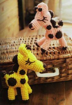 Amigurumi Crocheted Baby Giraffe - free crochet pattern