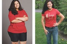 before and after weight loss women -