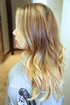 blonde balayage with long layers and front angles. LOVE!!!! and the highlight can last 3-6 months before it needs to be done...highly recommend Alexa at Salon Bogar!