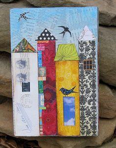 city life, super cute - scrapbook paper art project??