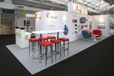 3.5x10 Prestige exhibition stand in a shell scheme space