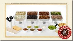 catering, food, chipotle wedding, chipotl awesom, cater option, parti idea, chipotl cater, bowl parti, bowls