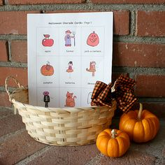 Halloween Charades! Such a fun Halloween game for your family or class!! (FREE PRINTABLE)~ Buggy and Buddy