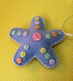 Baby Star/Starfish Ornament by patsfabriccreations on Etsy, $9.99 starstarfish ornament