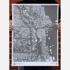 Chicago Print Gray now featured on Fab.