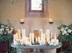 #candle adorned wedd