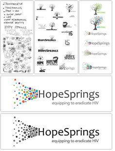 HopeSprings logo process: awesome