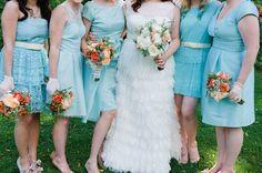 Aqua  & Orange Modern Wedding - Bridal Musings Wedding Blog
