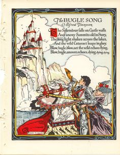 "Donn P. Crane illustration for the poem ""The Bugle Song"" by Alfred Lord Tennyson."