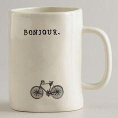 Bonjour mug.