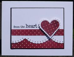 clean and simple Valentine card ... white and red with black layering lines ... like the balance of the design ...