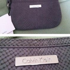 Calvin Klein Gray Wristlet Clutch Mini Purse | $24.99