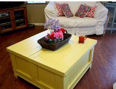 yellow coffee table