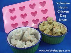 Tasty Tuesday: Hearts for my Valentine Chicken Dog Treats | Kol's Notes