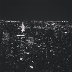 THE CHRYSLER BUILDING taken from the Empire State Building (photo print)