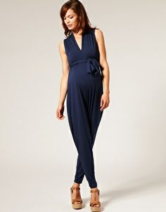 Woah!  Maternity Jumpsuit? I love it on the model... wonder how it looks in person?!