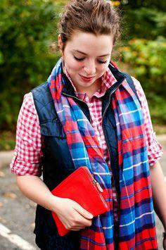 The perfect fall accessory is a scarf #scarf #fashion #ootd #wiww #curlyhair #plaid #fall