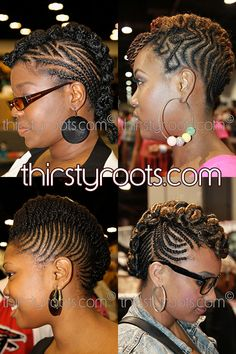 Braided Mohawk Hairstyles for Black Girls | thirstyroots.com: Black Hairstyles and Hair Care
