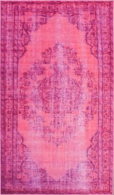 Pink overdyed Rugs USA rug.
