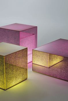 translucent boxes, shimmer glow