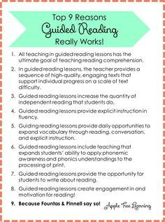 Why guided reading really works! #guidedreading #reading #teacher #fluency #literacy  #guided reading