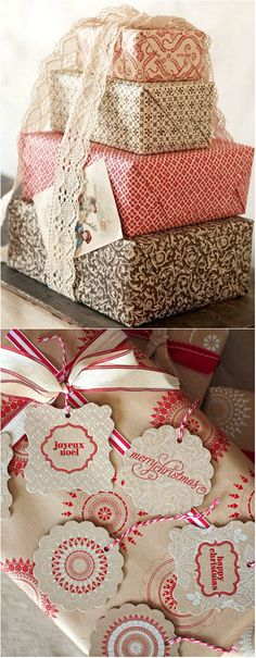 stack gift, holiday, gift wrapping, diy crafts, christma inspir
