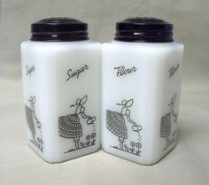 McKee Tipp Watering Can Lady Sugar Flour Shakers