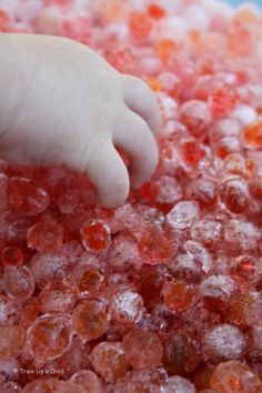 Frozen Water Beads- Fun Sensory Play ~ Growing A Jeweled Rose