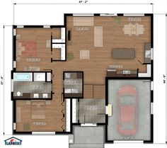 plan de maison on pinterest house plans construction and cottages. Black Bedroom Furniture Sets. Home Design Ideas