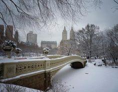 centralpark, winter, snow, parks, bows, new york city, bridges, central park, bow bridg