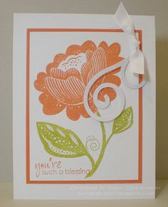 CAS65 - Stamps: Bella Blossoms (Stampin' Up!), sentiment from Masculine Messages (Gina K Designs) - 2010