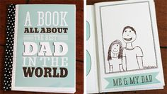 Free DIY printable: Best Dad in the World Book. Love this.