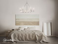 The elegant Leyton chandelier with its simple design can be incorporated into many room settings. Hang above your bed for a touch of luxury and sophistication without the extravagant grandeur of traditional chandeliers. #interior #design #lighting #decor #chandelier #modern #contemporary #luxury #chrome #bedroom #transitional