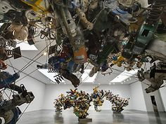Massive Metal Blooms [[MORE]]Nancy Rubins' aluminum assemblages of playground rocking animals are bursting with life at Gagosian Gallery; rising like chunky, metallic clouds from the ground and wall,...
