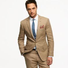 Ludlow two-button suit jacket with center vent in Irish linen - suiting - Men - J.Crew