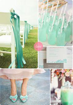 mint wedding details