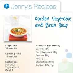 on veggies with this Garden Vegetable and Bean Soup recipe. This soup ...