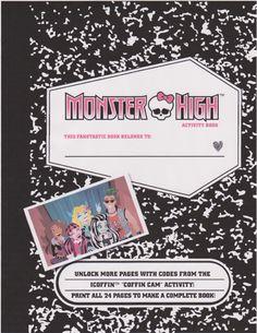 FREE Monster HIgh Printables