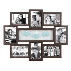 Faith Hope Love Shadowbox Brown Collage Frame brown collag, collag frame