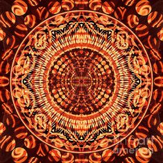 Chain Reaction - 3 Print by ©ifourdezign #kaleidoscopeArt #Kaleidoscope #Symmetry #Marquetry #Reflections #Abstract #AbstractArt #Geometry #DigitalArt #Patterns #FineArtAmerica (Please retain ALL credit -TY)
