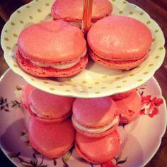 Raspberry Mascarpone Macarons - Greased and Floured