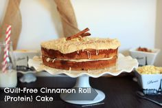 Cinnamon Roll Protein Cake Vegan & gluten free