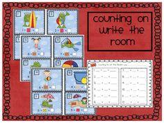 Can Do Kinders: Math Write the Room- Beach-themed FREE