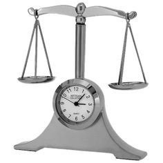 Scales of Justice clock