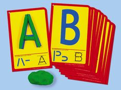 Uppercase Letters Dough Building Cards